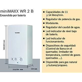 51M7ZEbpoeL. SS324  - Junkers MiniMaxx WR 11 2KB - Calentador, 11 litros, Blanco