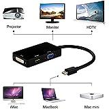 FARRAIGE 3 In 1 Gold Plated Mini DisplayPort Thunderbolt To HDMI/DVI/VGA Display Port Cable For Apple Mac Book Mac Pro Mac Air Mac Mini