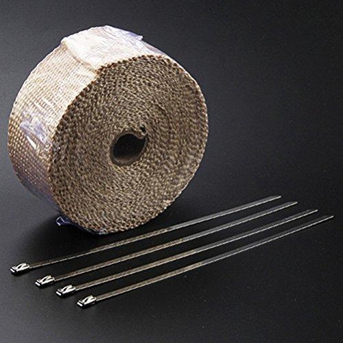 10 x Edelstahl Kabelbinder in 4,6 x 300 mm V2A Hitzeschutzband Krümmer Downpipe