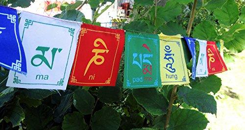 Mini drapeaux de prières imprimés – bonne qualité – pack de 3
