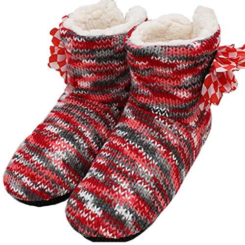 Zapatos Suaves y cálidos Botas Mujer Piso Interior Pisos Flores de Ganchillo Inicio Regalos de Invierno Zapatillas soñolientas