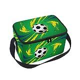 DOSHINE Sport Ball Fußball Soccer Isolierte Lunch Box Tasche, Kühler Ice Lunch Tasche Wiederverwendbar für Männer Frauen Erwachsene Kinder Jungen Mädchen