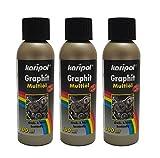 3 x 100ml karipol Graphit Multiöl, Graphitöl Graphit-Öl