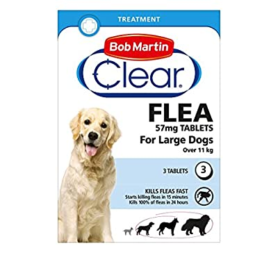 Bob Martin Flea Tablets for large Dogs over 11kg, 3 Tablets from Bob Martin