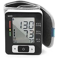 Tensiómetro de muñeca, totalmente automática de presión arterial y pulso con gran manguito para