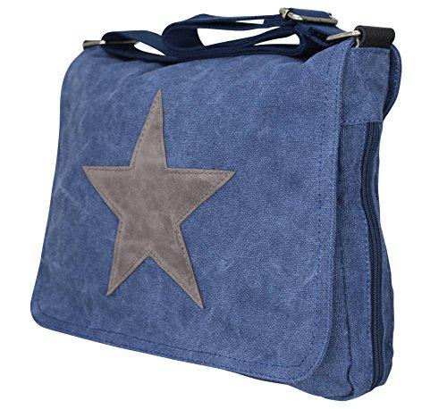 PiriModa, Borsa a spalla donna Multicolore multicolore Jeansblau/Grau