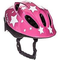 Sport Direct – blanco estrellas de los niños niñas bicicleta casco rosa 48 ...