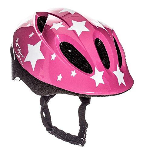 Sport Direct weiß Sterne Kinder Mädchen Fahrrad Helm pink 48–52cm CE EN1078: 2012+ A1: 2012