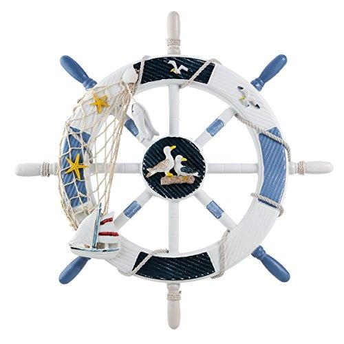 WINOMO arredamento nautico volante nautico boat steering decorazione della parete