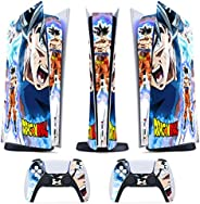 Skin PS5 Digital / Disk- Dragonball Ultra Goku - Cover Adesiva Opaco Satinata HD Antigraffio Rimovibile Made i