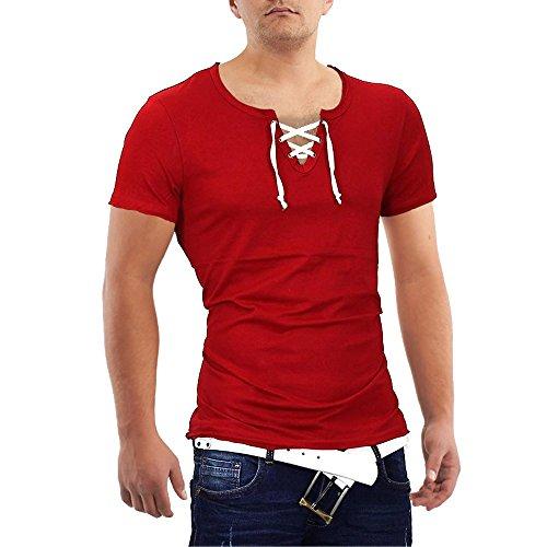 Herren T-Shirt Kordel ID643 Hellgrau