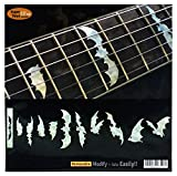 Griffbrett Marker Inlay Aufkleber Decals für Gitarre & Bass–Bat Wing–WP