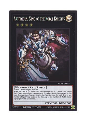 Yu-Gi-Oh Englisch NKRT-DE037 Artorigus, Konig der edlen Ritter von St. Ritter Konig Artorius (Platinum Rare) Limited Edition