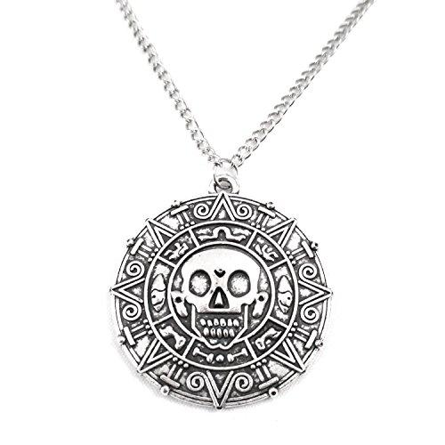 Piraten Halskette Fluch der Karibik Kette antiker Stil Silber Gold Bronze (Silber)