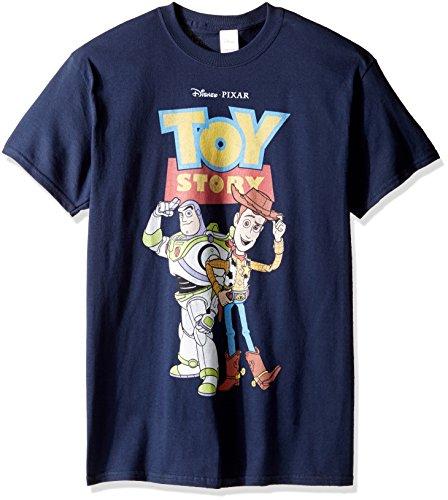 Toy Baby Story Woody Disney Kostüm - Disney Herren T-Shirt Toy Story Buzz und Woody - Blau - Mittel