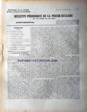 BULLETIN PERIODIQUE [No 20] du 04/09/191...