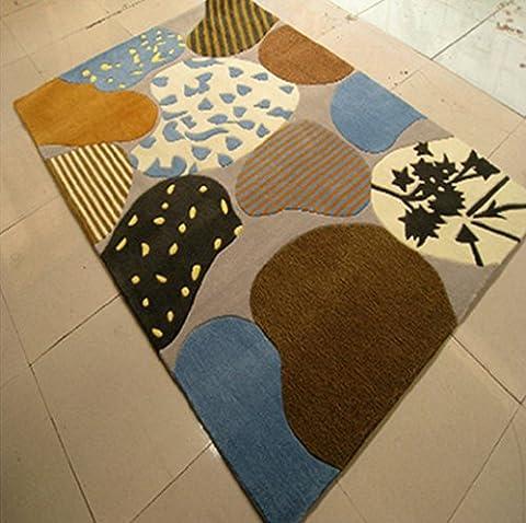 Fibre acrylique salon tapis à la main/ tapis de chambre
