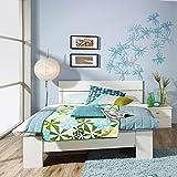 Bettanlage Set Futonbett wei Kinderbett Jugendbett Nachttisch Gstebett Bett