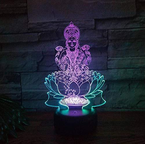 Buddha Led 3D Buntes Nachtlicht Kreative Visuelle Note, Die Geschenk-Lampen-Partei-Dekorations-Buchstabe-Licht Der Atmosphäre-3D Auflädt (Partei-lichter Laser)