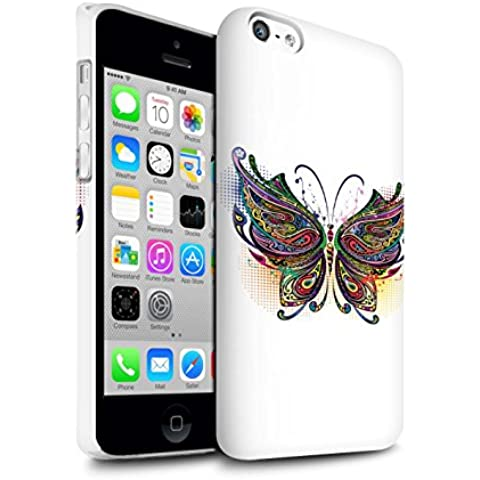 Carcasa/Funda Brillo Broche de Presión en para el Apple iPhone 5C / serie: Animales ornamentales - Mariposa