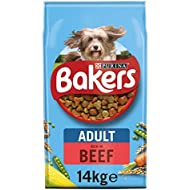 Bakers Adult Dry Dog Food Beef and Veg 14kg