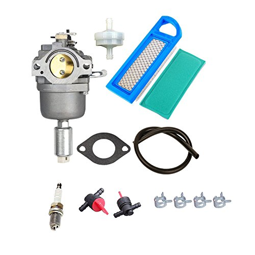 Auto-shut-off-kit (OxoxO Carburetor With 697014 Air Pre Filter Fuel Line Filter Spark Plug for Briggs & Stratton 14.5hp-21hp Engines Replace 591731 796109 594593)