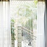Herz Pattern 200x100cm Türvorhang Tür Fenster Vorhang Fadenvorhang Fadenstore