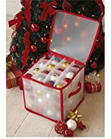 CHRISTMAS TREE 64 BAUBLE DECORATIONS STORAGE BOX BRAND NEW