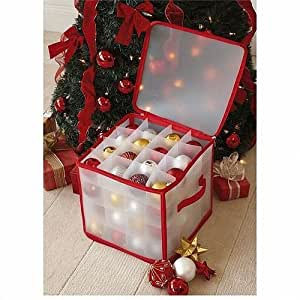 CHRISTMAS TREE 64 BAUBLE DECORATIONS STORAGE BOX BRAND NEW by TJM