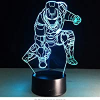 mit Batterie und Taste ONOFF Blau Lampe LED Marvel Spiderman