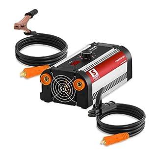 Stamos Germany Elektrodenschweißgerät MMA Schweißgerät tragbar Mini (kompaktes E-Hand-Schweißgerät, 200 A, 230 V, IGBT Inverter, 80% Arbeitszyklus, HOT START)
