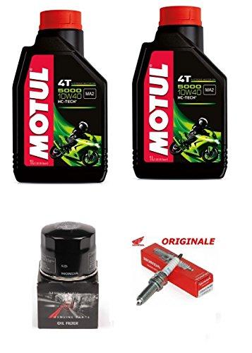 Tagliando Originale Honda Sh 300 2007 al 2017 2 LT Olio Motul 5100 10w40 + Filtro Olio Originale Honda + Candela Originale Ho