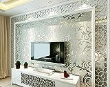 Luxus graue silbernen blatt 3D stereo tapete wand rollen gold tapete wohnzimmer hintergrundbild 10 * 0,53 mt