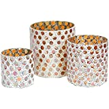 Essential Decor & Beyond EN14336 3Piece Glass Votive Candle Holder