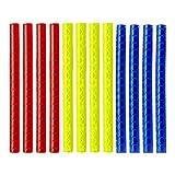 LIOOBO 3 Confezioni di Adesivi per Bicicletta Cerchi Leggeri Cerchi Rim Clip Adesivi Riflettenti riflettori per Biciclette Bici Ciclismo Nastro di Sicurezza più Sicuro (Rosso, Blu, Giallo)
