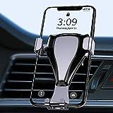 Supporto Cellulare Auto, Smartphone Supporto Universale Gravità in Alluminio Palla Rotante Porta Cellulare da Auto Presa Dell'aria con Braccio Estensibile per iPhone Samsung Huawei Xiaomi Telefono