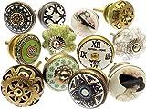 Vintage-Chic Gemischt Set mit Shabby Chic Vintage Stil Schrankknöpfe aus Keramik x 12 (MG-264) TM Produkt