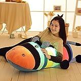 Kenmont Kreative Nacht bunt LED-Licht Weich Spielzeug Glow Leuchtend Gefüllte Tier Esel Nilpferd Plüschtiere Schlaf Relax Kissen (65cm, Leuchtend)