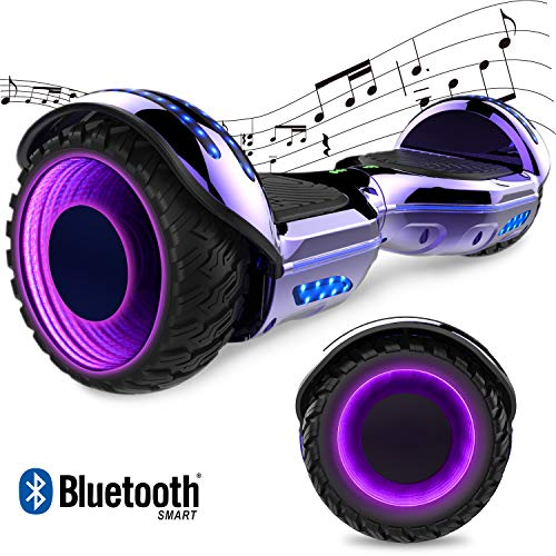 "GeekMe Elektro Scooter Self-Balance Scooter 6.5"" - Bluetooth Lautsprecher - 700W Dual Motor - blinkendes LED-Lichtrad"