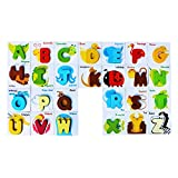 ZANTEC Puzzle Giocattolo Legno Gioco Didattico Educativo Bambini ABC 26 Lettera Bloks Forma Colore Riconoscimento per bambini Babies Regalo Numero e la Lettera