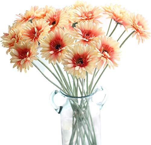 9cm Lang von Daisy Blumen Künstliche Blumen Fake Gerbera Hochzeit Home Party Dekoration Princess Peach ()