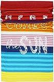 Lashuma XXL Strandtuch Miami | Velours Strandlaken | Rot Orange Blau | Badetuch Bunt | 100% Baumwolle | 100 x 180 cm