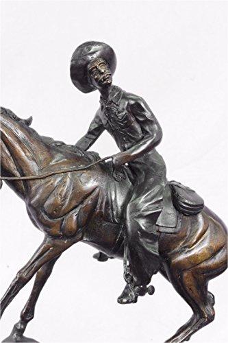 Handgemachte Bronze Skulptur Bronze Statue Frederick Remington Fest Vintage Art Deco Große -JP57810- Dekor Sammler Geschenk Unterzeichnet (Frederick Remington Bronze)