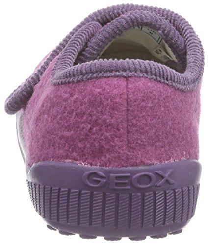 Geox J HOME A Mädchen Flache Hausschuhe Pink (FUCHSIA/LILACC8257)