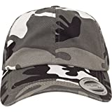 Flexfit Low Profile Camo Washed Kappen, Silver, one Size