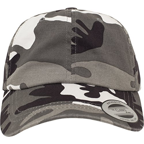 Flexfit Low Profile Camo Washed Kappen, Silver, one Size - Camo Cami