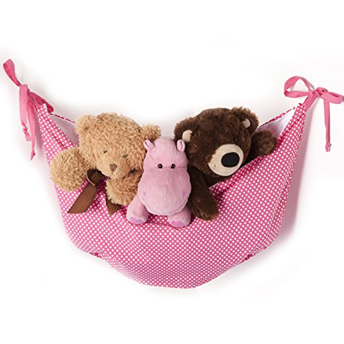 One Grace lugar simplicidad bolsa para juguetes, color rosa