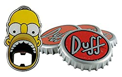 The Simpsons Duff Beer Coasters Set – Homer Simpson Bottle Opener