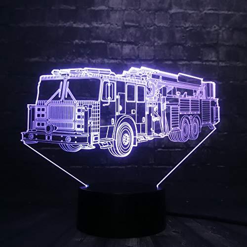 eug 3D LED nachtlicht USB Lampe Dekor Schlafzimmer Schlaf Licht 7 farbe changeUSB Basis Junge Spielzeug Geschenk fernbedienung ()