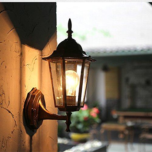 Hanamaki Traditionelles Art-Bronze-Im Freiensicherheits-Wand-Laternen-Licht mit Abgeschrägten Glasplatten (Bronze-wand-laterne)